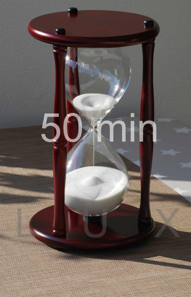 Sonderanfertigung Sanduhr Holz 50 Minuten