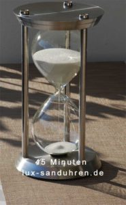 Sanduhr-Edelstahl-45-Minuten-in-Sonne